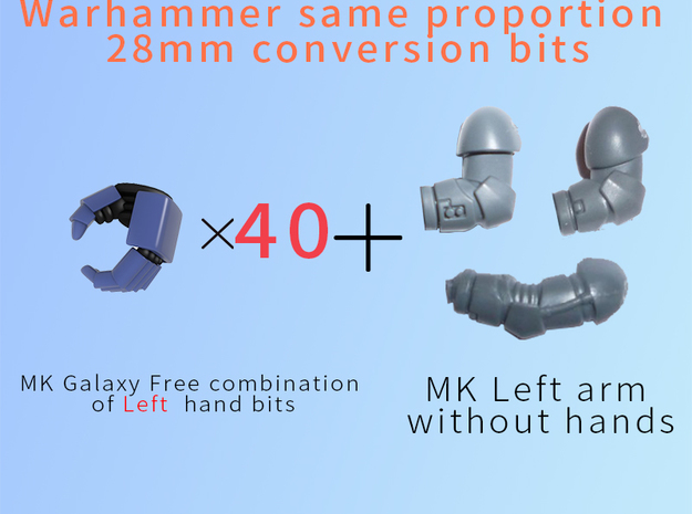 MK Galaxy Free combination of Left hand in Smooth Fine Detail Plastic