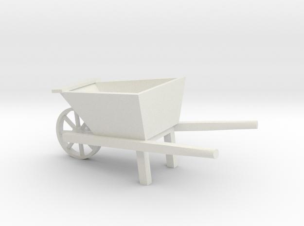 Wheel Barrow in White Natural Versatile Plastic