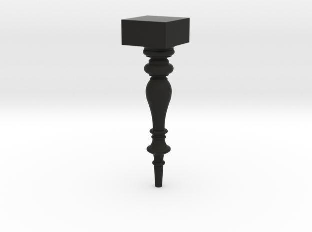 Table Leg in Black Natural Versatile Plastic