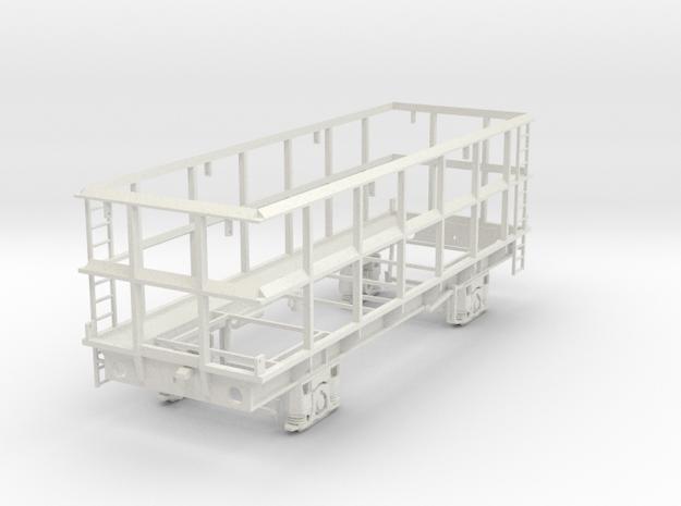 7mm SSA POA Scrap wagon Empty in White Natural Versatile Plastic