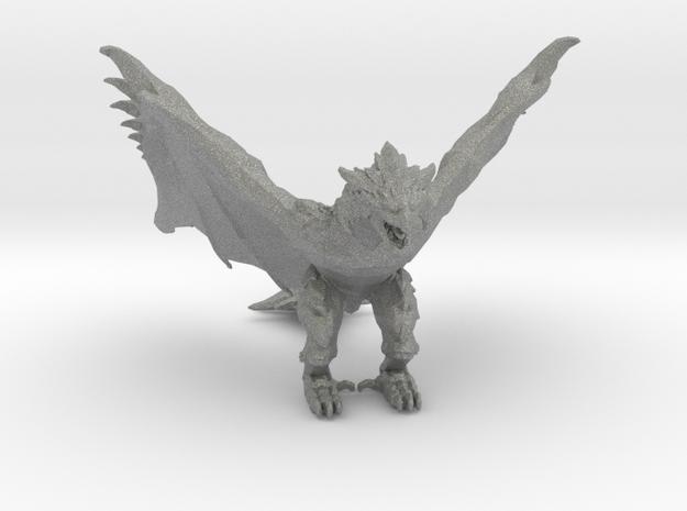 Monster Hunter Rathalos Dragon Miniature games rpg in Gray Professional Plastic
