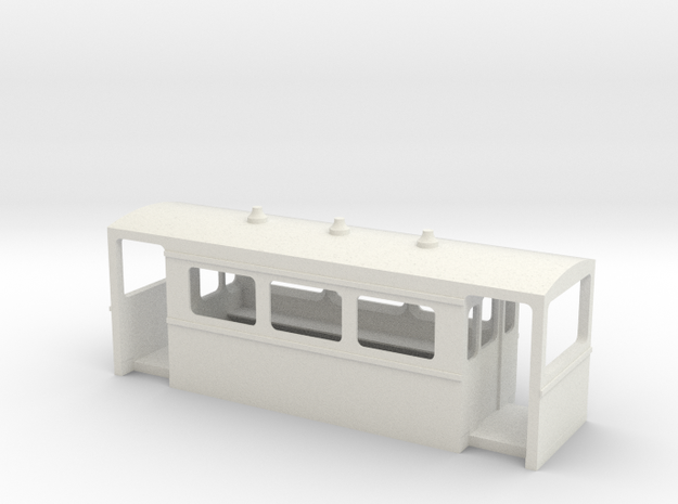 N6.5 carriage body to fit Rokuhan chassis in White Natural Versatile Plastic