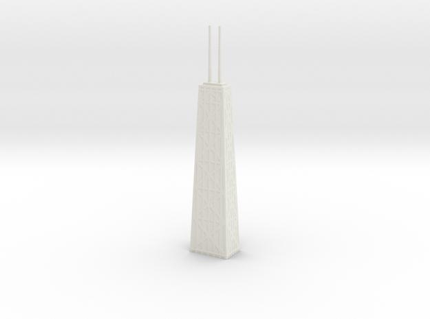 John Hancock Center - Chicago (6 inch) in White Natural Versatile Plastic