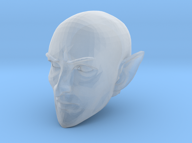 Elf Cleric Bald Head 1 in Smooth Fine Detail Plastic
