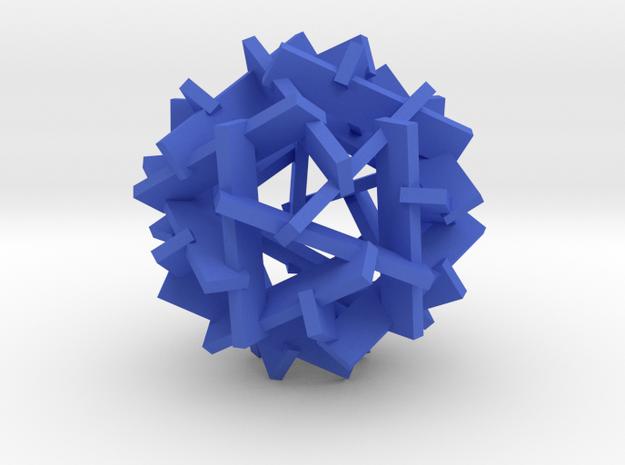 Kevahedron in Blue Processed Versatile Plastic