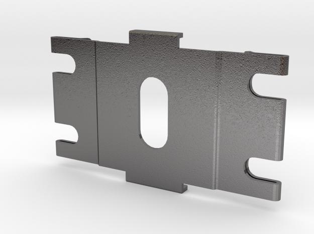 Blade Pad in Polished Nickel Steel