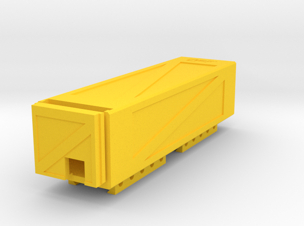 Crate Battery Box (34mm x 30mm x 136mm ID) in Yellow Processed Versatile Plastic