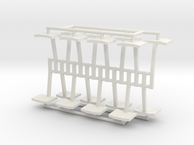 7mm BBA wagon steps in White Natural Versatile Plastic
