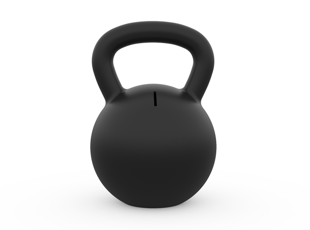 Kettle Bell Bank in Black Natural Versatile Plastic