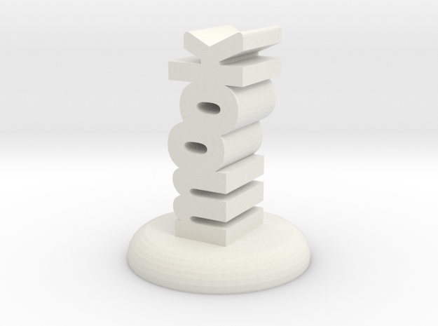 """mook"" D&D Word Mini in White Natural Versatile Plastic"