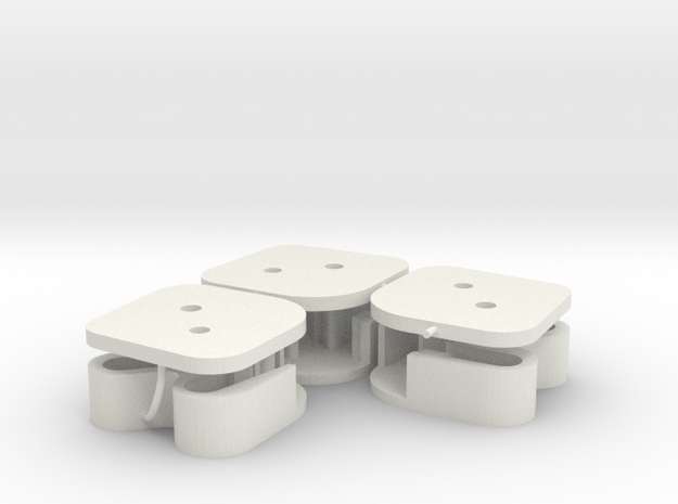 Cadillac 1959 window switch connector housing (3) in White Natural Versatile Plastic