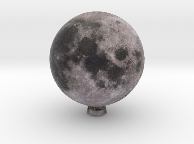 Moon with relief 1:80 million in Natural Full Color Sandstone