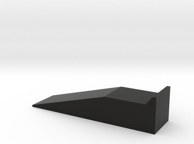 Model Car Race Ramp - 1/24 Scale  - Garage Diorama in Black Natural Versatile Plastic