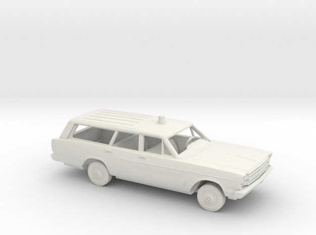 1/64 1966 Ford Country Wagon FireChief Kit in White Natural Versatile Plastic