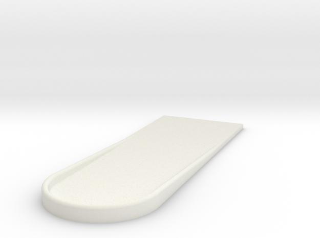 UH-1 Foot Rest 1/7 in White Natural Versatile Plastic