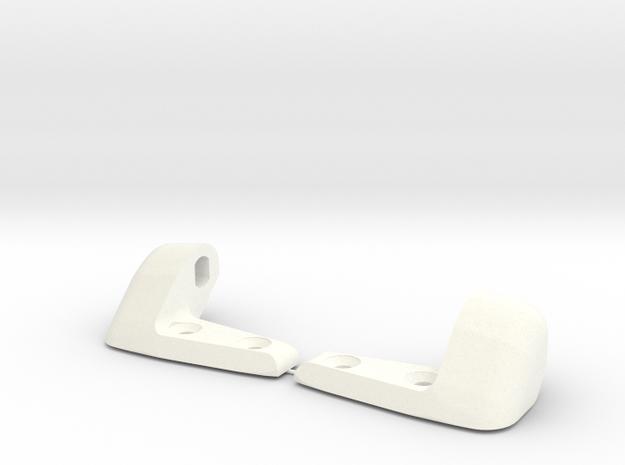 Porsche sunvisor clips -65 -66 -67 flat axel in White Processed Versatile Plastic