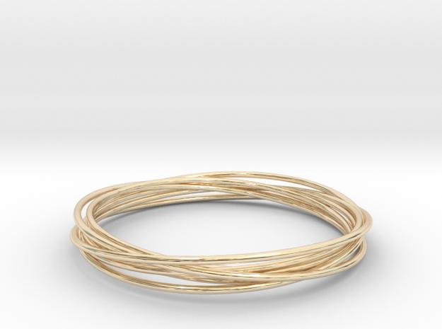 Bracelet circles in 14k Gold Plated Brass