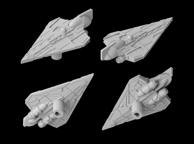 Delta-7B Jedi Starfighter 1/270 in White Natural Versatile Plastic