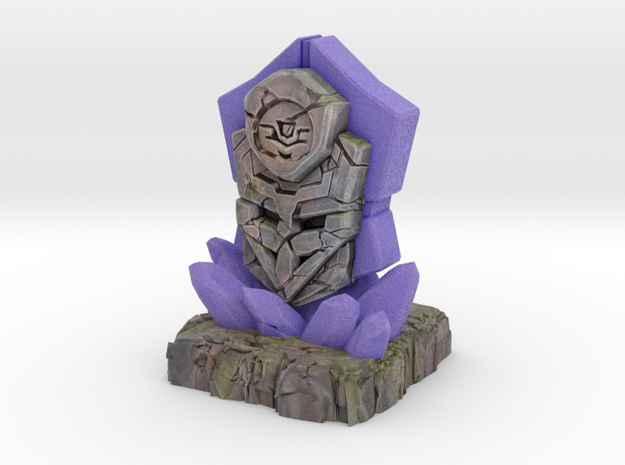 Ancient Cybertronian Tablet in Natural Full Color Sandstone: Small