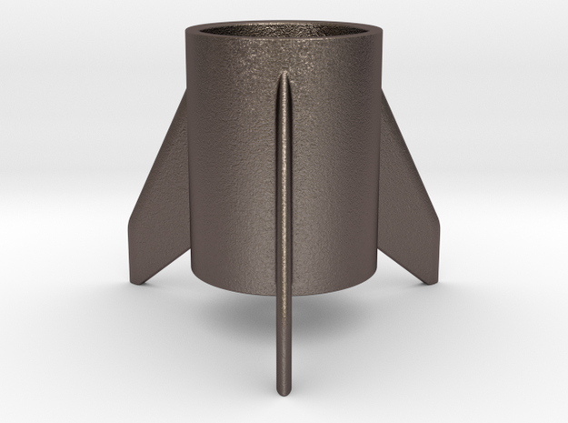 CRS-1, a candle holder in Polished Bronzed-Silver Steel