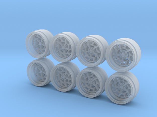 7KCirc 9 Hot Wheels Rims in Smoothest Fine Detail Plastic