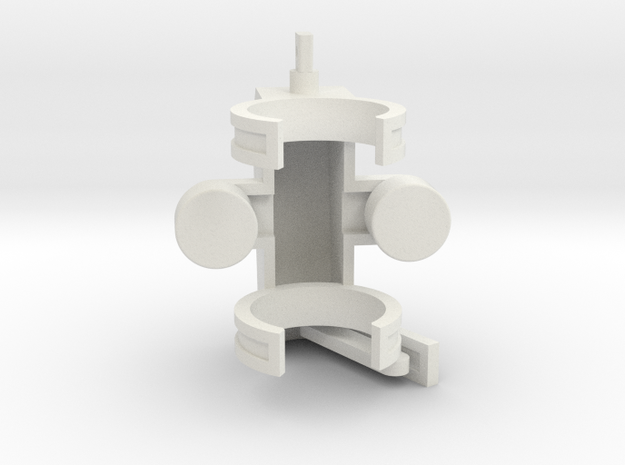 Feller Head 1-50 Scale in White Natural Versatile Plastic
