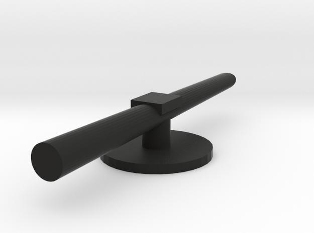 Regia Marina Spica torpedo tube in Black Natural Versatile Plastic: 1:300
