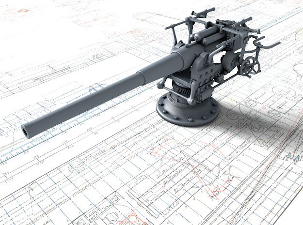 "1/72 German 8.8 cm/45 (3.46"") SK L/45 Gun in Smoothest Fine Detail Plastic"