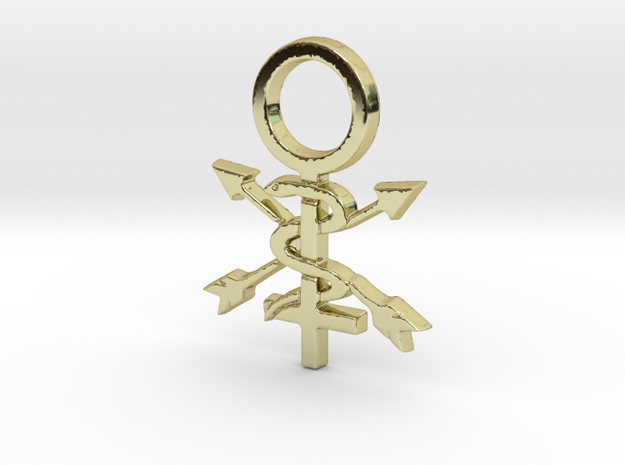 Women In Athletic Training Pin in 18k Gold Plated Brass