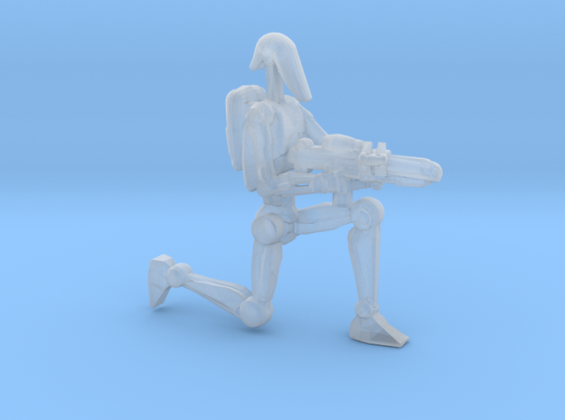 War droid kneeling 1/60 miniature for games in Smooth Fine Detail Plastic