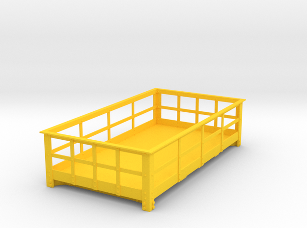 FRB13 Festiniog Railway 3 Ton Slate Wagon Body in Yellow Processed Versatile Plastic