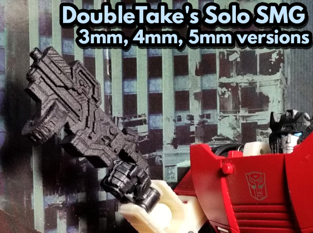 DoubleTake's Solo SMG (Multisize) in Black PA12: Medium