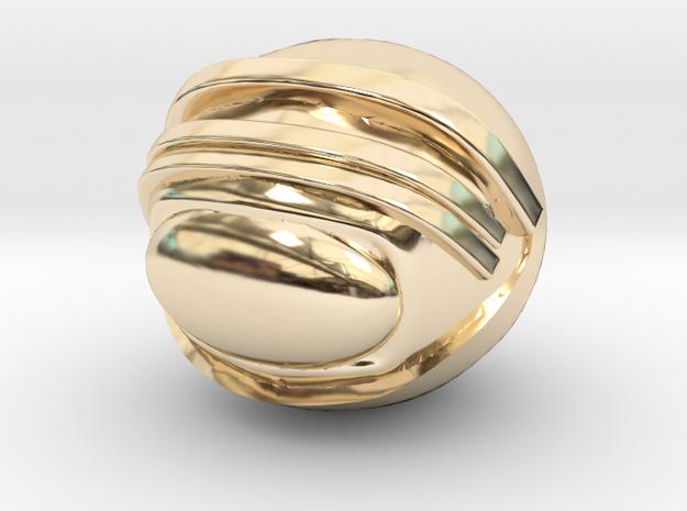 SpaceHelmetv3kA1 in 14k Gold Plated Brass