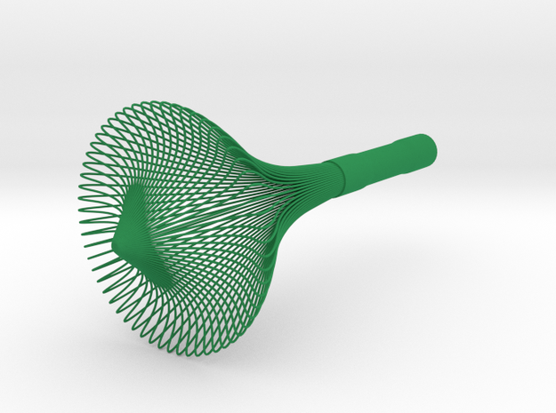 Matcha Whisk in Green Processed Versatile Plastic