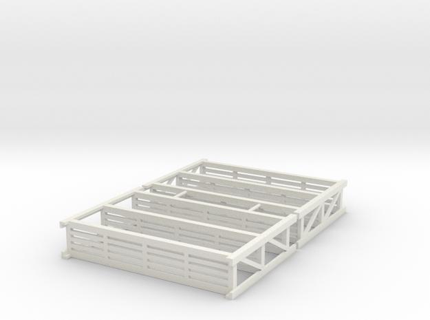 HO Warehouse Pallet Racks Shelving in White Natural Versatile Plastic