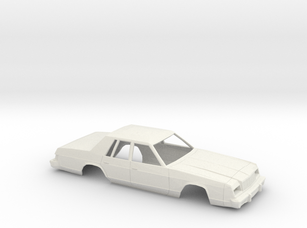 1/25 1979-81 Dodge St Regis Shell in White Natural Versatile Plastic
