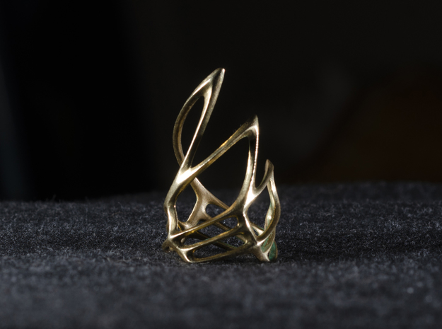 Swirling Claw Ring in Natural Brass: 7 / 54