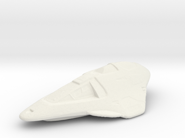 Delta Flyer in White Natural Versatile Plastic