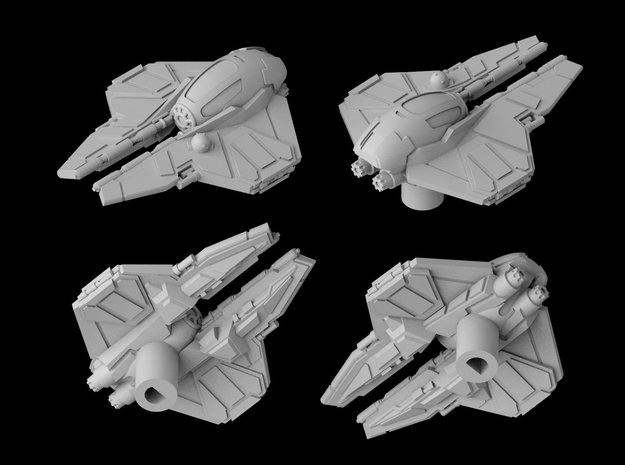 Eta-2 Jedi Interceptor Closed 1/270 in White Natural Versatile Plastic