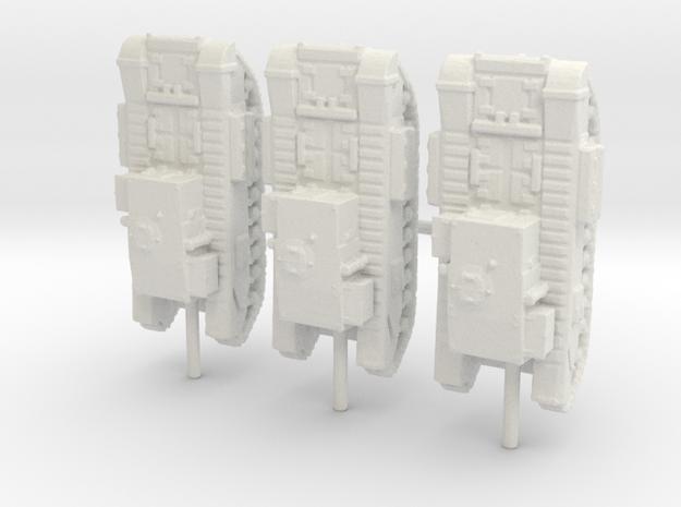 1/285 churchill gun carrier  in White Natural Versatile Plastic