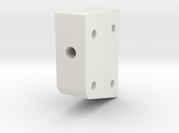 05.03.02.01.05 Lower Spacer in White Natural Versatile Plastic