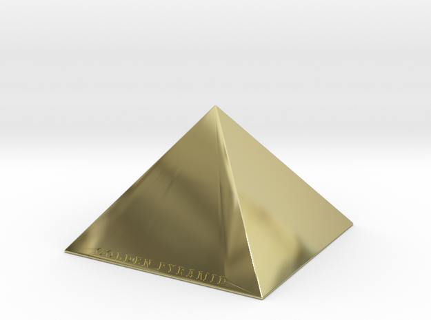 Golden Pyramid in 18K Yellow Gold