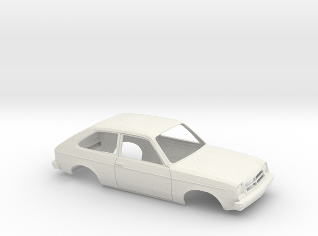 1/16 1975-82 Chevrolet Chevette Shell in White Natural Versatile Plastic
