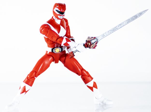 Mighty Red Accessory - Power Rangers  in White Natural Versatile Plastic