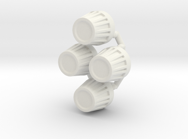Redcat Everest Gen7 Hub Caps in White Natural Versatile Plastic