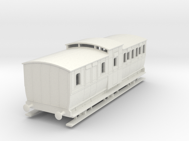 0-97-mgwr-6w-brake-3rd-coach in White Natural Versatile Plastic