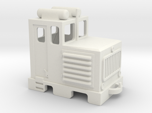 D3 diesel shunter / diesel da manovra in White Natural Versatile Plastic