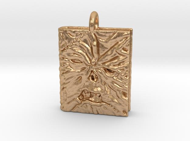Necronomicon Exmortis Pendant necklace allmaterial in Natural Bronze