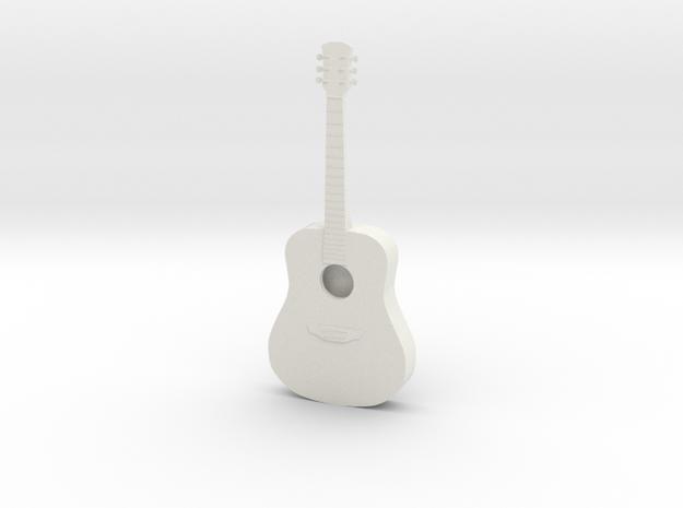 Dollhouse Acoustic Guitar in White Natural Versatile Plastic