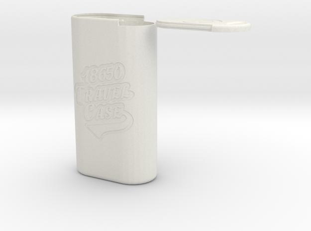 18650 TRAVEL CASE in White Natural Versatile Plastic